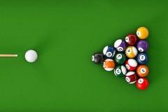 Glossy billiard balls set Royalty Free Stock Photos