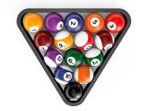 Glossy billiard balls set Royalty Free Stock Photo