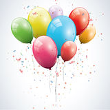 Glossy birthday balloons Stock Photography