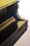 Glossy Black Piano Stock Photo
