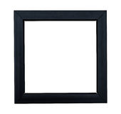 Glossy blackframe on a white baclground Stock Images