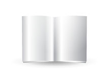 Glossy blank magazine. Illustration of a glossy blank magazine or journal spread Stock Photos