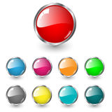 Glossy blank web buttons Stock Images