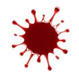 Glossy blood splash. Red glossy blood drops splash Stock Photos