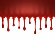 Glossy blood splash Stock Images