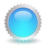 Glossy blue icon Royalty Free Stock Photography