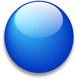 Glossy blue web icon. Glossy blue web button blank icon template with room for your symbol or logo royalty free illustration
