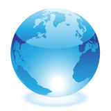 Glossy blue world Stock Images