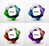 Glossy and blurred square vector banners templates Stock Photo