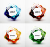 Glossy and blurred square vector banners templates Royalty Free Stock Photo