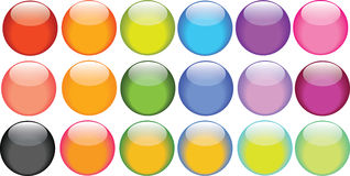 Glossy bright buttons Royalty Free Stock Photo