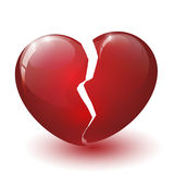 Glossy broken heart Royalty Free Stock Images