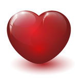 Glossy broken heart Stock Images
