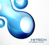 Glossy bubble abstract background. Abstract hi-tech futuristic vector background Stock Images