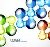 Glossy bubble abstract background. Abstract hi-tech futuristic vector background Royalty Free Stock Image