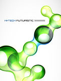 Glossy bubble abstract background. Abstract hi-tech futuristic vector background Stock Photos