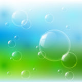 Glossy bubbles Royalty Free Stock Image