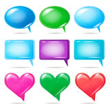 Glossy bubbles for speech Stock Images