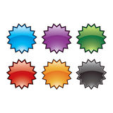 Glossy burst buttons. Glossy burst button symbol icons Royalty Free Stock Photos