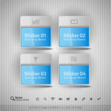 Glossy Business Stickers. Vector Design Elements For Infographics. Royalty Free Stock Photography