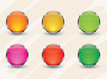 Glossy Button Royalty Free Stock Photo