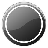 Glossy Button. Rounded glossy button isolated on white Royalty Free Stock Photo