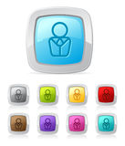 Glossy button - business person Stock Photos