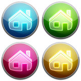 Glossy Button - Home. An illustration of home sign Royalty Free Stock Images