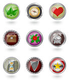 Glossy  button icon set. Stock Photos
