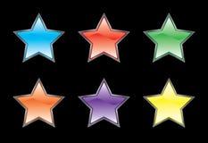 Glossy button icon set Stock Photos