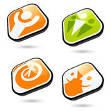 Glossy button illustrations Royalty Free Stock Images