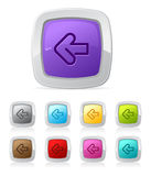 Glossy button - left arrow Stock Images