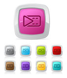 Glossy button - movie clip Royalty Free Stock Photo