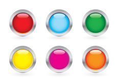 Glossy button set Stock Image