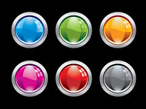 Glossy button set Stock Photography