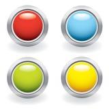 Glossy button set Stock Photo