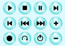 Glossy button set Royalty Free Stock Photos