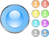 Glossy buttons Royalty Free Stock Images