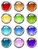 Glossy_buttons Stock Photos