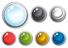 Glossy-buttons Stock Photo