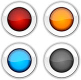 Glossy buttons. Royalty Free Stock Photo