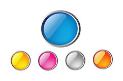 Glossy buttons Royalty Free Stock Photo