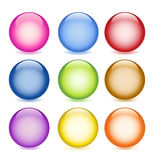 Glossy buttons. Set of colorful glossy buttons Royalty Free Stock Image