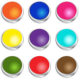 Glossy Buttons royalty free stock photography