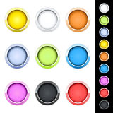 Glossy buttons. Set of colored glossy buttons for your website Royalty Free Stock Photos