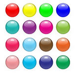 Glossy Buttons Stock Photography