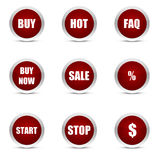 Glossy buttons. /icon pefect for sales and marketing vector illustration