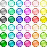 Glossy buttons. Royalty Free Stock Photography