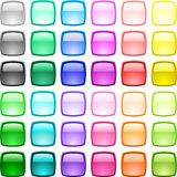 Glossy buttons. Royalty Free Stock Photos
