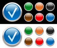 Glossy buttons Stock Image